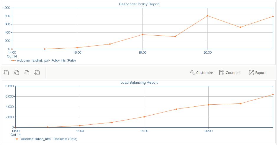초과 요청 및 요청량 그래프
