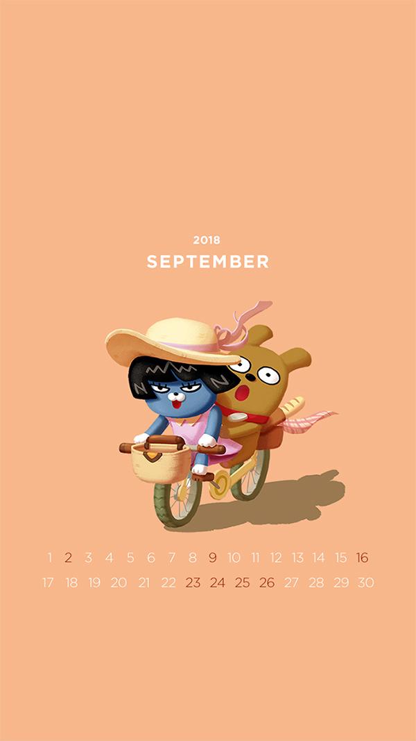 2018년 9월의 배경화면(달력)