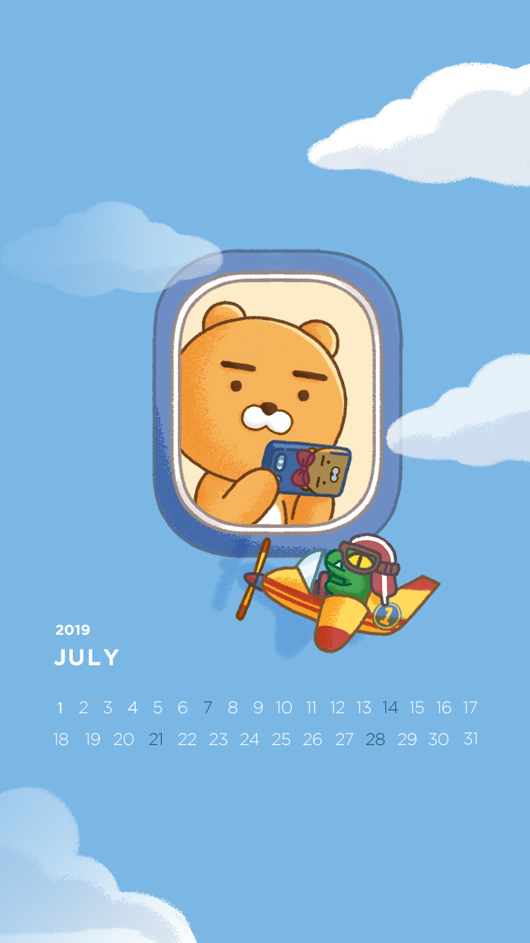 2019년 7월의 배경화면(달력)