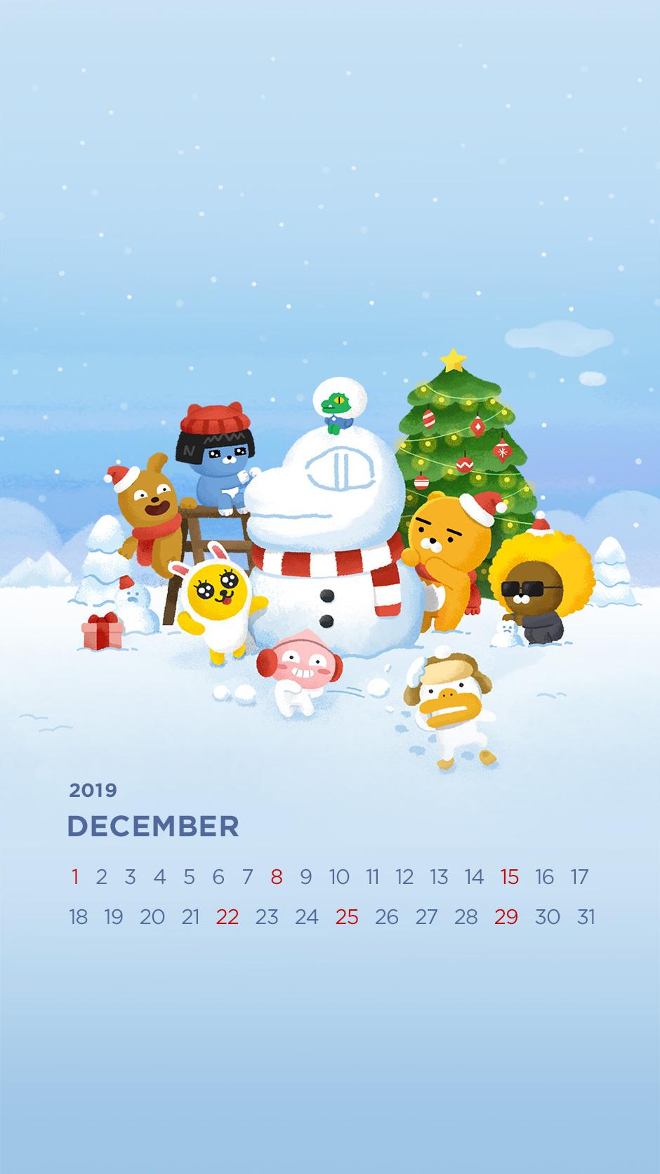 2019년 12월의 배경화면(달력)